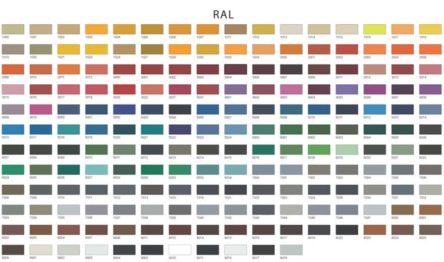 Industrial Flooring - RAL Colour Chart