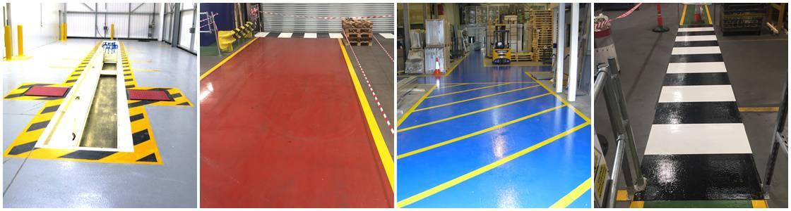 Flooring Demarcation Lining & Symbols