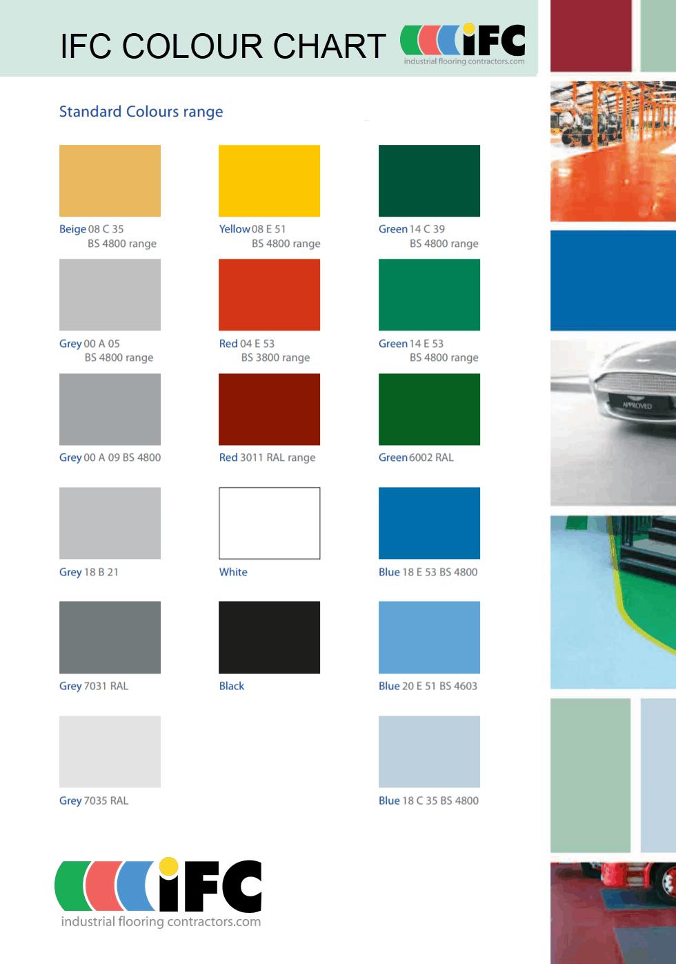 IFC Colour Chart
